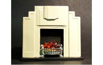 Miniature Dolls House Art Deco Fireplaces