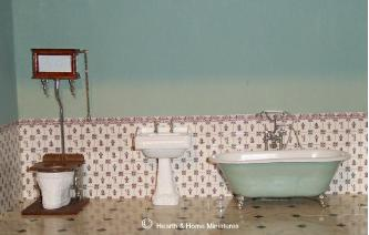 Miniature Victorian Bathroom Suite With Shower Tap VICBDB Image